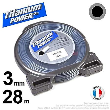 Hilo Desbrozadora Nylon Titanium redondo 3 mm par 28 m de ...