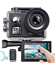 AKASO Action cam 4K/60fps /Sports kamera/Action Kamera 20MP WiFi mit Touchscreen EIS 40M unterwasserkamera V50 Elite mit 8X Zoom Sprachsteuerung Fernbedienung Zubehör Kit