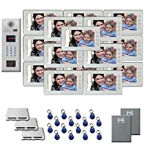 Multi Tenant Video Intercom 16 7 door camera monitor key for kit