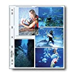 Print File Archival Photo Pages Holds Ten 3 1/2x5'' Prints, Pack of 100