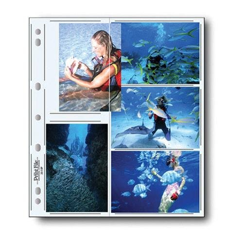Print File Archival Photo Pages Holds Ten 3 1/2x5'' Prints, Pack of 100 by Print File (Image #1)