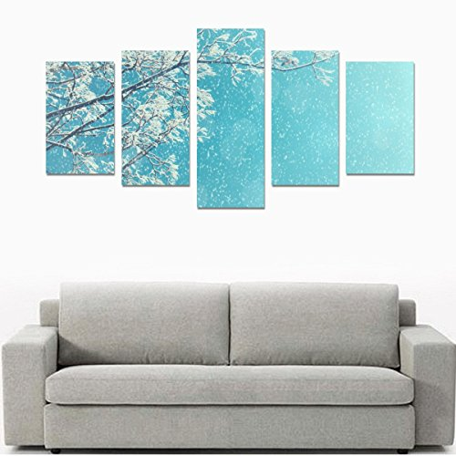 Home Decor Canvas Print Sets Wall Print Set Wall Art Print Posters on Canvas for Winter Landscape Of Snowy Tree Branches