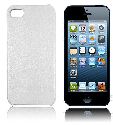 Cadorabo ®! Iphone 5 / 5G / 5S Leather Hard Case blanc
