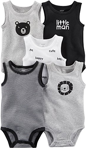 Carter's Baby Boys' 5-Pack Tank Top Original Bodysuits for sale  Delivered anywhere in USA