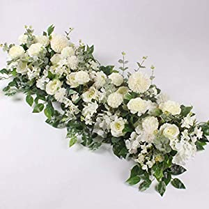 DEBRICKS 50/100Cm Wedding Flower Wall Arrangement Supplies Silk Peony Artificial Flower Row Decor Romantic Diyiron Arch Backdrop 42