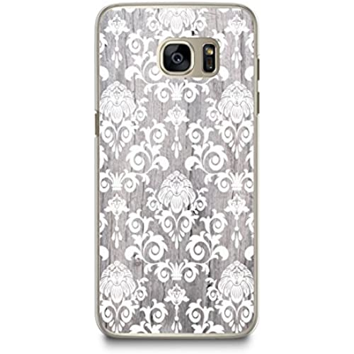 Case for Samsung S7, CasesByLorraine Wood Print Damask Floral Pattern Case Plastic Hard Cover for Samsung Galaxy Sales
