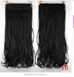 french twist hair accesory - dolly2u 60cm Synthetic Clip In Hair Extension Heat Resistant Hairpiece Natural Curly Wavy Hair Extensions#3