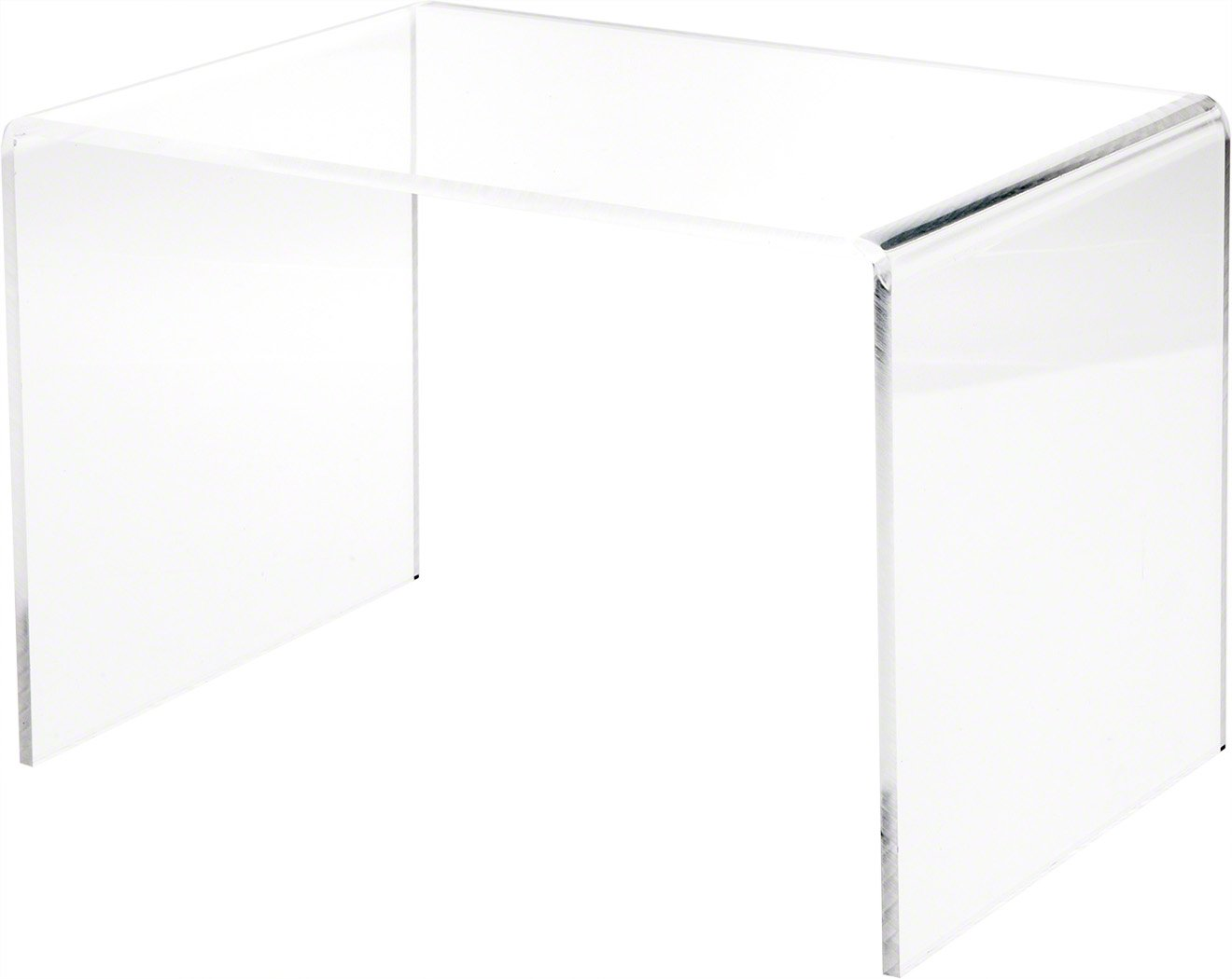 Plymor Clear Acrylic Rectangular Display Riser, 8'' H x 12'' W x 8'' D (1/4'' Thick) by Plymor