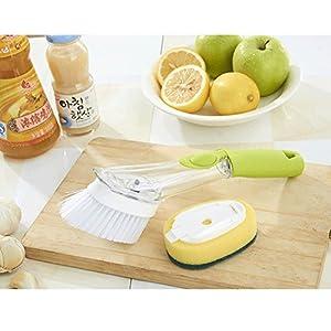 ALPHELIGANCE Kitchen Good Grips Soap Dispensing Dish and Sink Sponge Brush Set