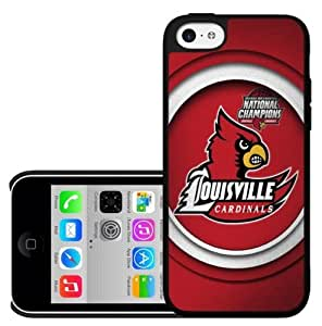 Louisville Cardinals National Champions Red Football Sports Hard Snap on Cell Phone Case iPhone (4/4s)