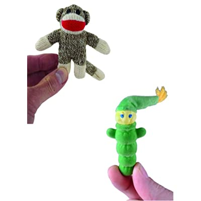World's Smallest Glo Worm & World's Smallest Sock Monkey - Bundle Set: Toys & Games