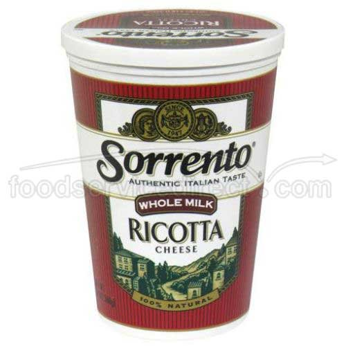 Sorrento Whole Milk Select Ricotta Cheese, 3 Pound -- 6 per case. by Sorrento (Image #1)