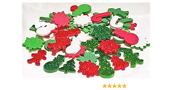 HOLOGRAPHIC STICKER CHRISTMAS STICKERS-XMAS TREES//SNOWMEN//SNOWMAN GLITTER