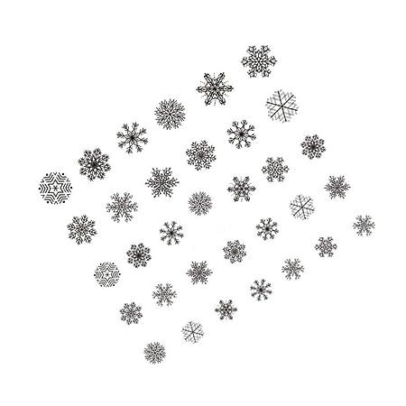 Laileya Los Copos de Nieve de Navidad de uñas Pegatinas Flor de ...