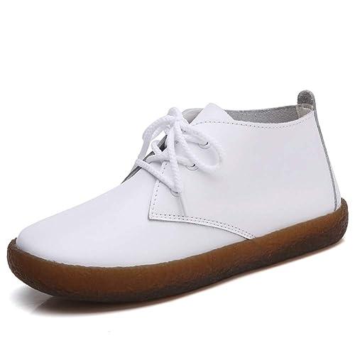 Pisos de Encaje Mujer Calzado de Bota de Tobillo Botas Mocasines Zapatos Zapatos Casual del Dedo del pie Redondo: Amazon.es: Zapatos y complementos