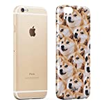 Glitbit Compatible with iPhone 6 Plus / 6s Plus Case Doge Pattern Shiba Inu Akita Cute Dog Puppy Doggo Thin Design Durable Hard Shell Plastic Protective Case Cover 7