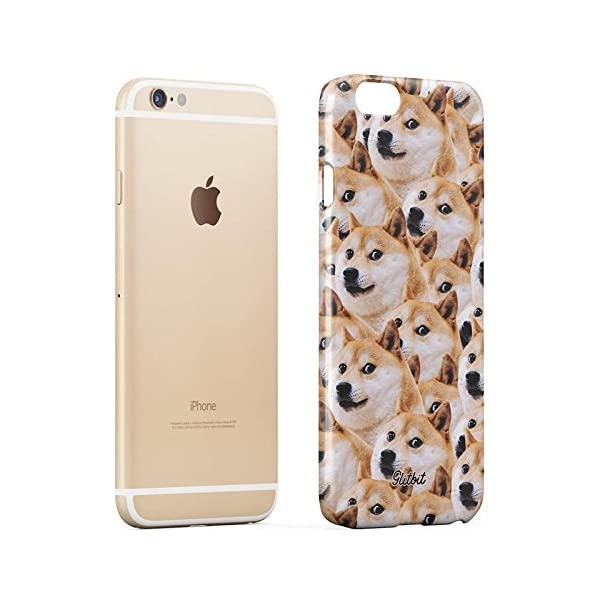 Glitbit Compatible with iPhone 6 Plus / 6s Plus Case Doge Pattern Shiba Inu Akita Cute Dog Puppy Doggo Thin Design Durable Hard Shell Plastic Protective Case Cover 3
