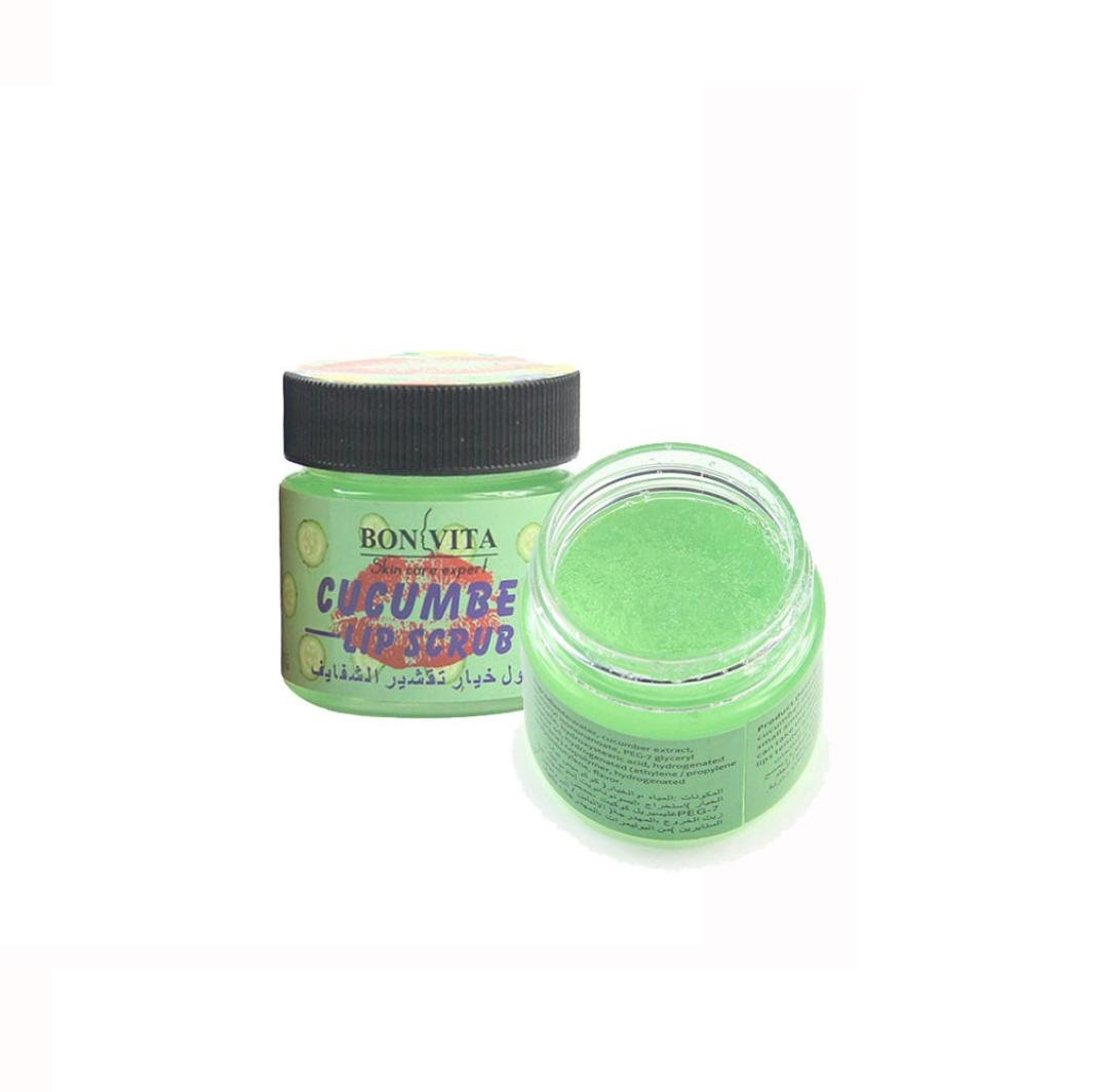 Alonea Lip Scrub, Strawberry Flavor Cucumber Flavor Lips Gentle Moisturizing Exfoliating Scrub (A)