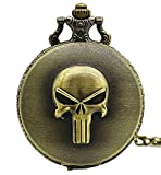 Marvel's The Punisher Logo Bronze Finish Pendant Pocket Watch