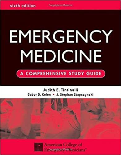 Tintinallis Emergency Medicine Manual 7th Edition Pdf