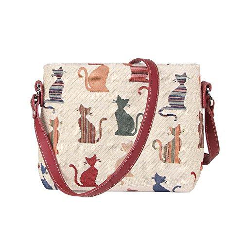 Signare Impudente a floreale messenger tessuto spalla stile borsa Gatto alla tracolla arazzo Borsetta a donna in moda 5a886q