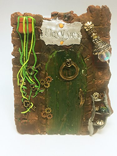 Tinker Fairy Door Secret gears Polymer Clay Pixie Portal Tree Decorations Magical Sprites Gnomes Elves Leprechauns