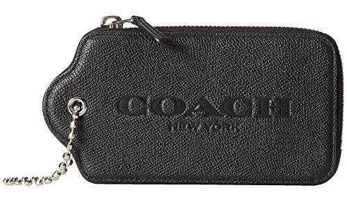 Coach Crossgrain BadlandsTiny Dot portafoglio 52928 stampato in pelle Hangtag Custodia nero