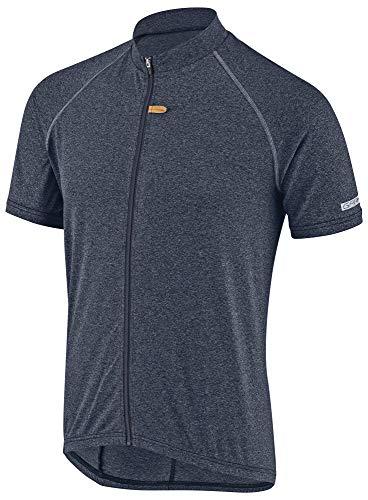 (Louis Garneau Men's Manchester Breathable, Moisture Wicking, Short Sleeve Full Zip Cycling Jersey, Dark Night, X-Large)