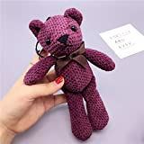 Baybee Premium Bow Fabric Teddy Bear Key Chain/Sleutelhanger Key Ring/Bag Pendant Soft Toy- Assorted | Random Color