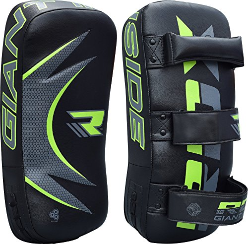 Curved Thai Pads (RDX Thai Pad Curved MMA Kick Boxing Strike Shield Focus Training Target Punching Mitts (THIS IS SOLD AS SINGLE ITEM))
