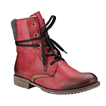 Rieker Women Ankle Boots red, (wine/mogano/anthrazi) 74722-35