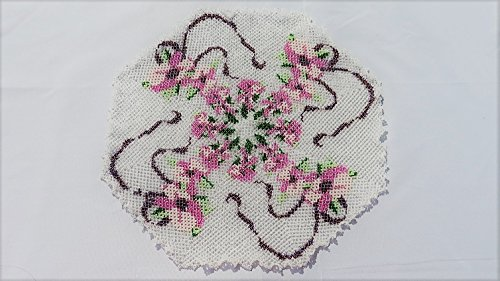 Ribbon Doilies (Beaded doily ribbon)