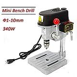 TFCFL 340W 1-10mm Drill Press Bench Mini Work Bench Wood Drilling Machine Power Tools Workshop Equipment US Warehouses