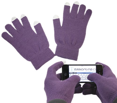 iTALKonline PURPLE Captive Touch Gloves for Touch Devices - Samsung Galaxy S I9000 Case