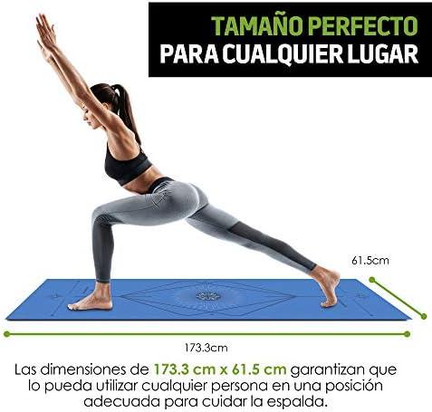 Redlemon Tapete de Yoga, Yoga Mat de 6mm de Grosor, Diseño Bicolor Ultrasuave, Antideslizante, Resistente, Flexible, Fácil de Limpiar, Enrollable. Ideal Para Pilates, Fitness, Meditación y más 7