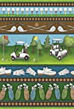 Toland Home Garden Country Club Collage 12.5 x 18 Inch Decorative Fun Sport Outdoors Golf Cart Club Ball Game Garden Flag For Sale