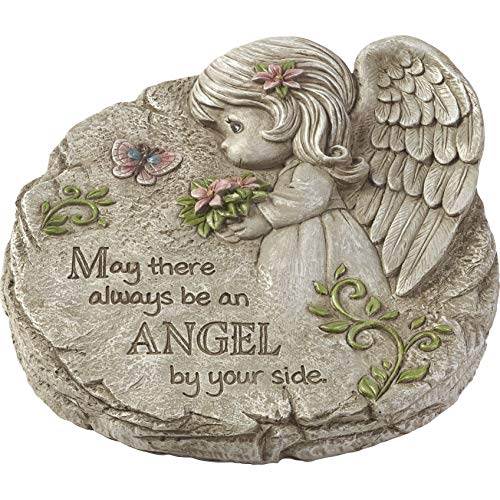 Precious Moments May There Always Be an Angel by Your Side Memorial Resin Garden 183424 Stone One Size Multi