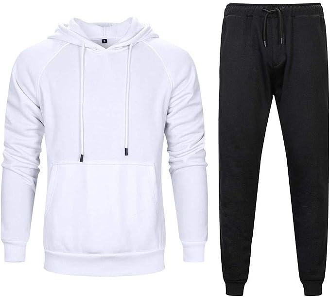 Honestyi - Chándal de Gimnasia para Hombre, suéter Informal + ...