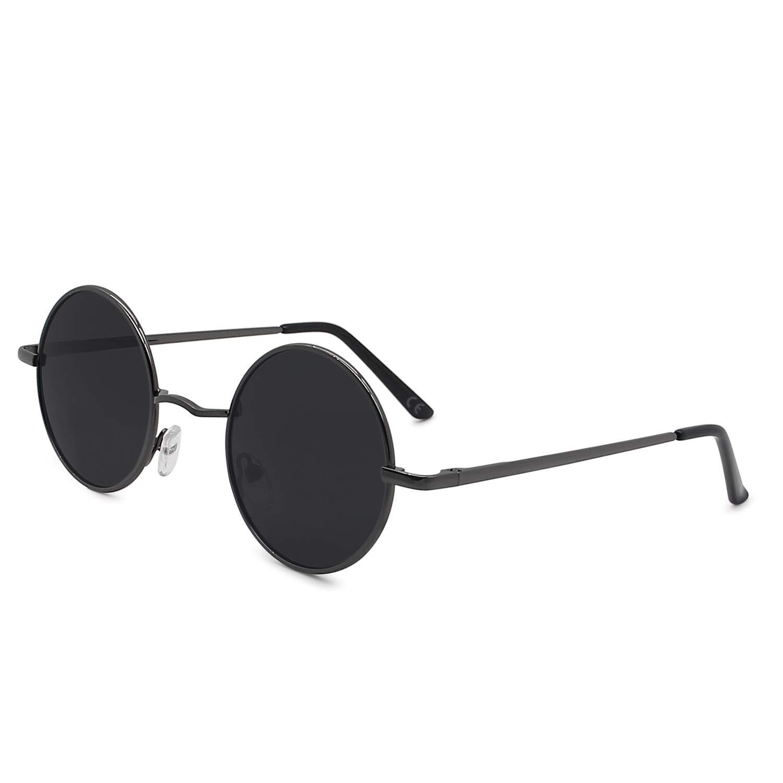9a8e8783ea39e AMZTM Retro Steampunk Sonnenbrille Klassisch Vintage Mode Metallrahmen  Klein Runde Kreis Polarisierte Damen Herren Fahren Brillen UV 400 Schutz  (Gewehr grau ...