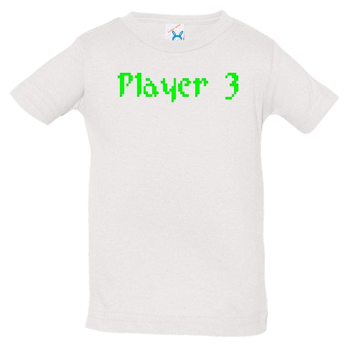 Tenacitee Babys Pixel Player 3 Shirt