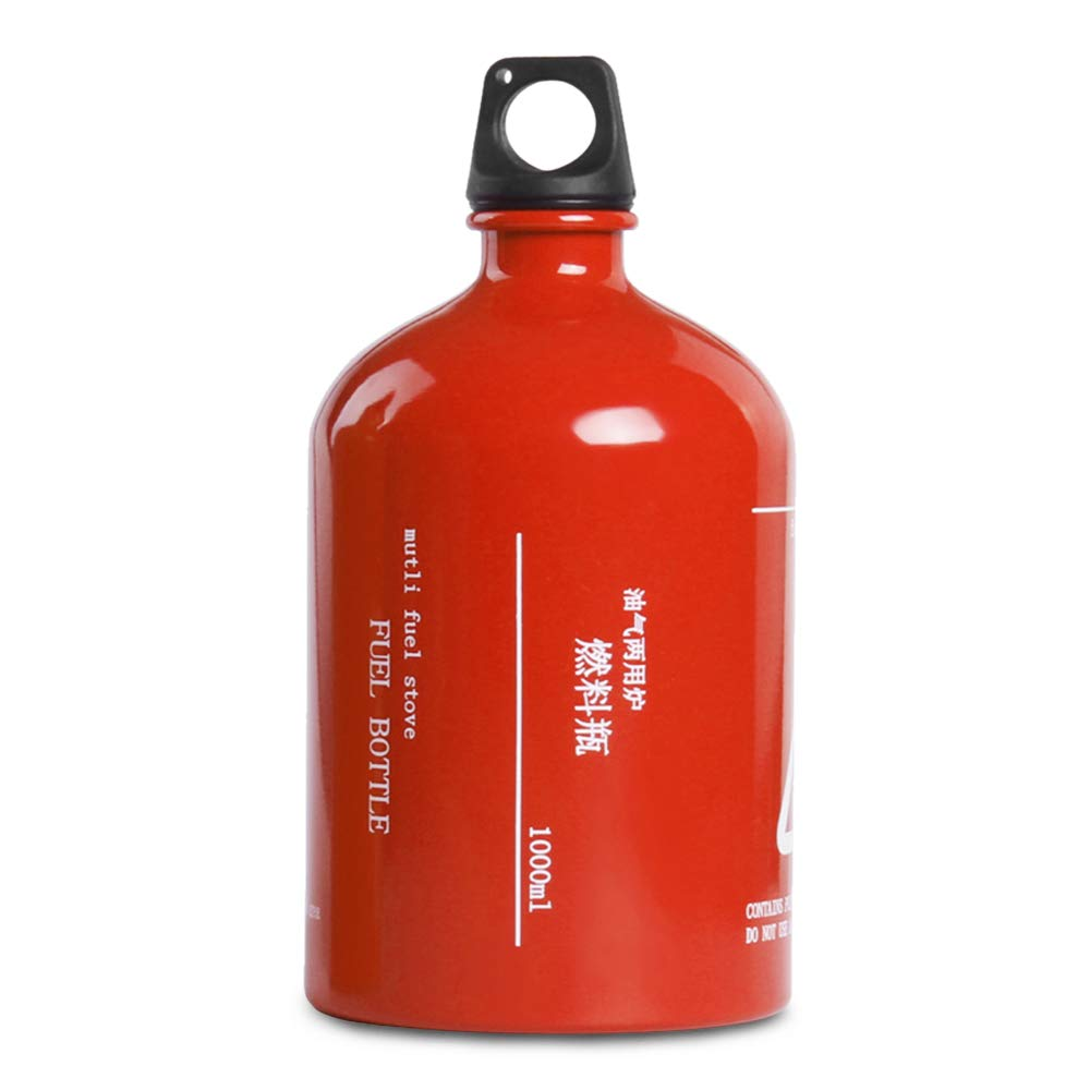 Lixada Botella de Combustible Vacía Botella de Almacenamiento de Alcohol Gasolina Queroseno para Acampada al Aire Libre 500ML / 750ML