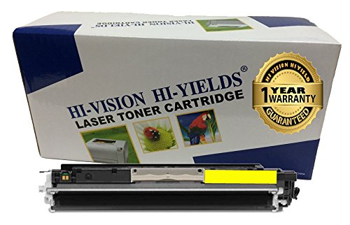 HI-VISION HI-YIELDS Compatible Toner Cartridge Replacement for Hewlett-Packard (HP) 126A CE312A (Yellow)