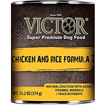 Victor Chicken and Rice Canned Dog Food 13.2oz 12 cans