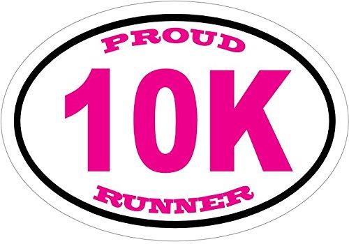 Marathon Bumper Sticker WickedGoodz Pink Oval Proud 10K Runner Window Decal Perfect for Runners and Marathoners Gift