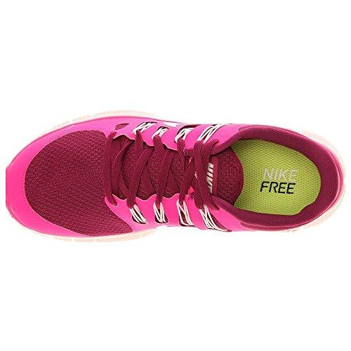 Nike Lady Free 5.0+ Scarpe Da Corsa Rosso Lampone / Vertice Bianco / Rosa Flusso