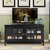 Tangkula TV Stand, Modern Wood Large Wide Entertainment Center for TV up to 50