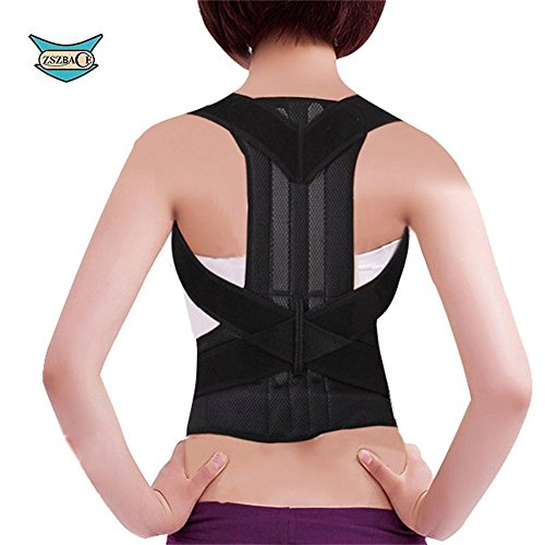 Back Brace Posture Corrector Improves Posture and Provides Lumbar Support For Lower and Upper Back Pain 5 Size