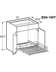 Madrid Beach Base Cabinet 24 Wide 2 Doors With 1 Wire Pullout Tray
