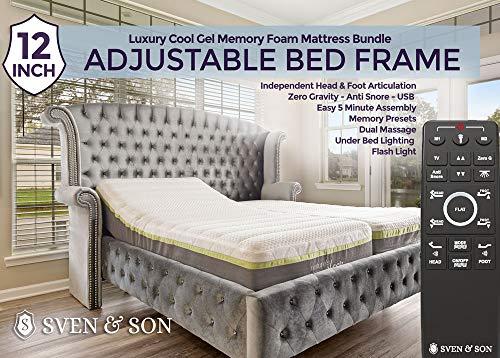 Split King Adjustable Bed Frame Base + 12