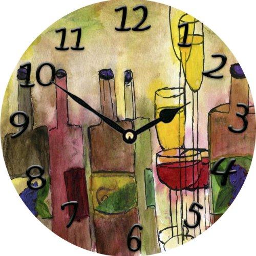 Tuscany Wine Bar Wall Clock - wine wall art decor